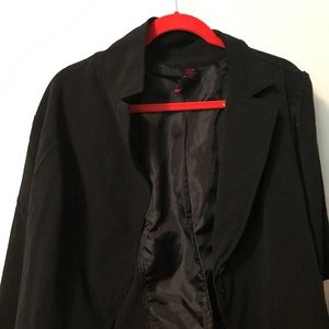Torrid black crop button front blazer jacket 3